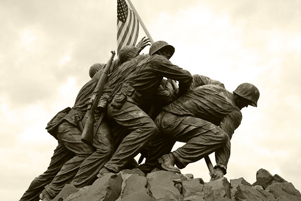 Raising of the flag on Iwo Jima