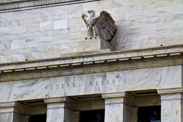 Eagle statue on Federal Reserve