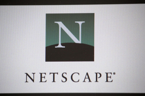 Netscape logo on computer screen
