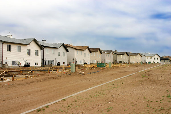 Unfinished housing development